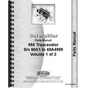 For Caterpillar 955 Traxcavator Parts Manual new 60a1 60a4999