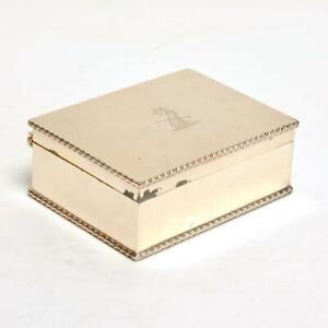 Vintage Sheffield Silver Plate Beaded Box Made In England