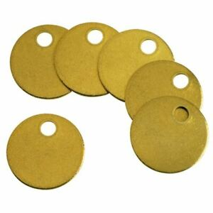 C h Hanson 1078b 1 Round Solid Brass Blank Metal Check Pack