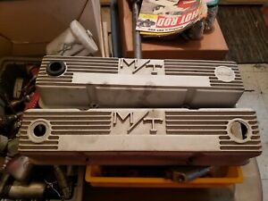 Mickey Thompson M T Small Block Chevy Valve Covers 103r 50b Preowned