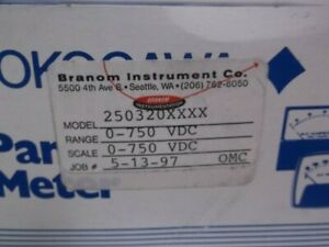 Yokogawa 250320xxxx Meter Panel Mount 0 750 Dc Volts New In Box