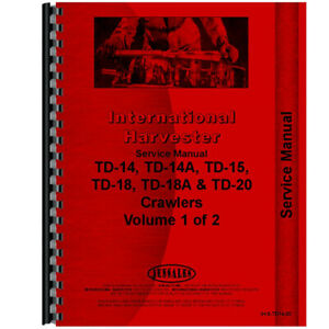New International Harvester Td14 Crawler Series Service Manual