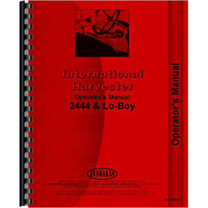 New International Harvester 2444 Tractor Operators Manual