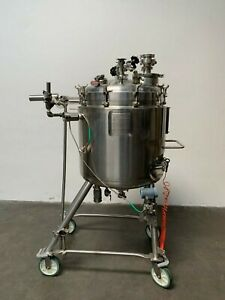 Walker 250 Liter Stainless Steel Jacketed Reactor 45 Psi No Mixer