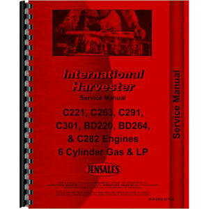 New International Harvester 706 Tractor Engine Service Manual gas Only Engine