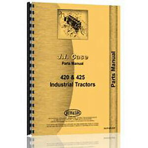 Parts Manual For Case 420 Industrial construction Tractor