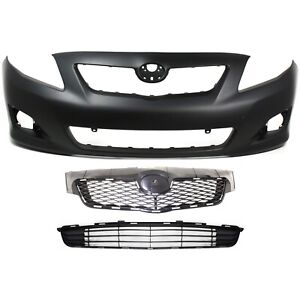 Bumper Cover Kit For 2009 2010 Toyota Corolla Front Primed