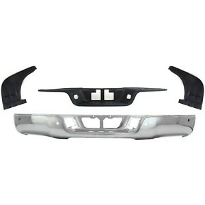 Step Bumper Kit For 2007 2013 Toyota Tundra Rear With Bumper Step Pad 4pc