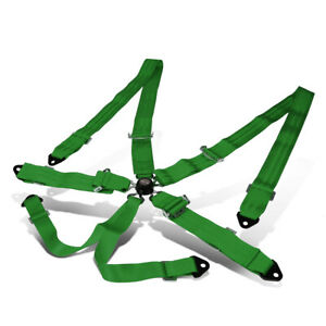 Nrg Innovations Sbh 6pcgn 6 point Cam Lock Buckle Racing Seat Belt Harness Green