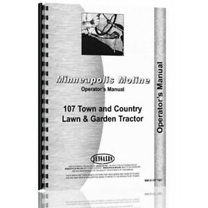 New Minneapolis Moline 107 Tractor Operator Manual mm o 107 T C