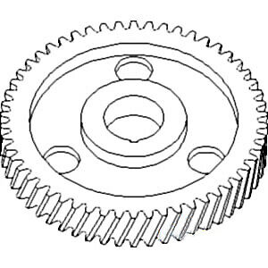 70227038 Camshaft Timing Gear For Allis Chalmers 170 175 D17 Wd45 W201
