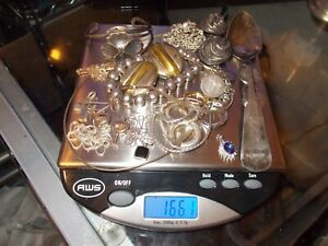 Sterling Silver Mixed Lot Of Scrap Or Wear Sterling Silver 166 1 Grams