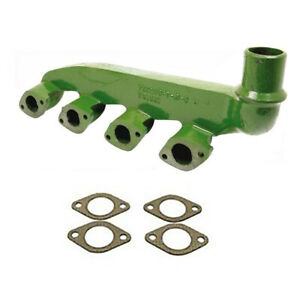 T20249 Manifold Diesel With Vertical Exhaust Gaskets For John Deere 4 Cylinder