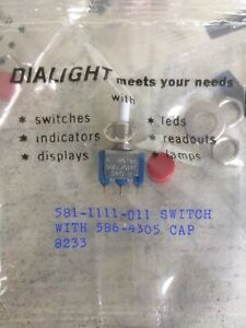 Lot Of 25 Dialight 581 1111 011 Nos Pushbutton Switches Caps