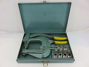 Roper Whitney Model Xx Hand Punch Set Kit With Dies Made In Usa
