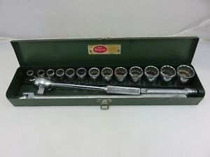 S k Wayne 1 2 Dr Socket Wrench Ratchet Set 7 16 1 1 4 Vintage Made In Usa
