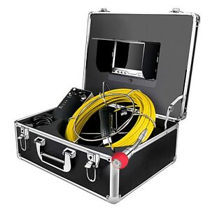 Sewer Inspection Camera Waterproof Ip68 65ft Plumbing Pipe Snake Cam Duct New