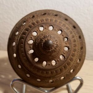 Large Bronze French Incense Burner Censor Lid Top Only 4 Replacement Piece