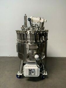 Precision 400l Stainless Steel Explosion Proof Jacketed Reactor W Mixer 100 Psi