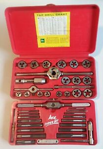 Ace Super Hex Tap Die Set 606 With Case Hanson Co Nice Shape Usa