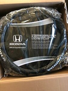 Brand New Black Synthetic Leather Car Truck Steering Wheel Cover For Honda New