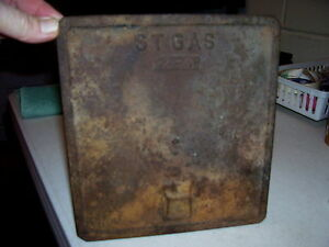 Vintage Cast Iron St Gas 2 4 Furnace Door Plate Stove Steampunk Piece