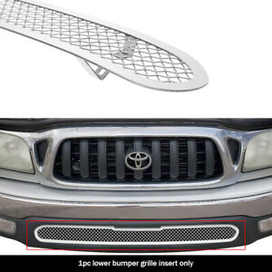 Fits 2001 2004 Toyota Tacoma 2wd Bumper Stainless Chrome Mesh Grille Insert