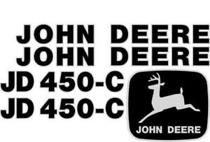 John Deere 450 c Crawler Dozer Decal Set Jd Decals