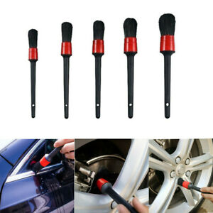 5pcs Car Detailing Brush Kit Auto Car Interior Cleaning Set For Wheel Clean New