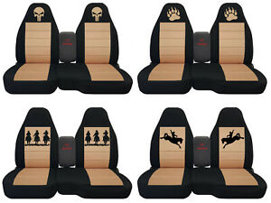 Fit Ford Ranger truck Car Seat Covers 60 40 console Not Included Blk tan
