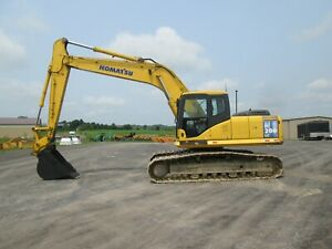 Komatsu Pc200lc 7 Excavator Tractor Dozer Diesel Used Heat All Glass Cab Steel