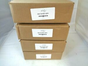 Esi Ivx Dp1 16 Key Charcoal Black Corded Office Phones 59565 Lot Of 4 New