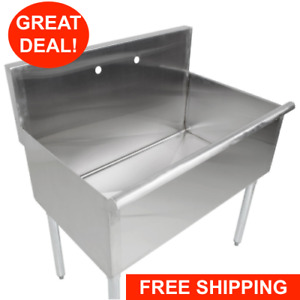 36 X 24 X 14 Bowl Stainless Steel Commercial Utility Prep 36 1 Sink
