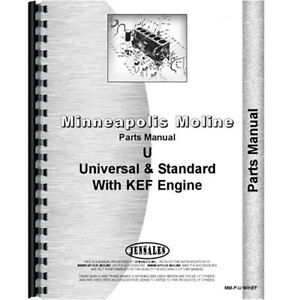 New Parts Manual Made For Minneapolis Moline Tractor Model Uts