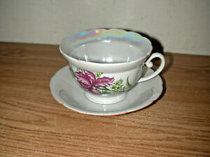 Vintage Floral Tea Cup And Saucer See Photos For Maker S Mark