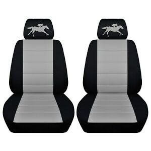 Truck Seat Covers 2017 Gmc Sierra 1500 Black Silver Racing Horse Custom Fit Abf