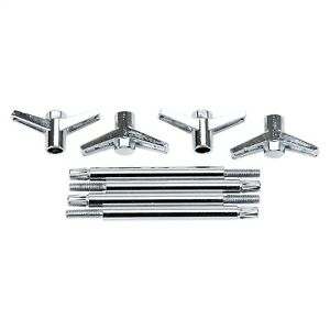 Edelbrock 4401 Wing Bolts With T Top Chrome Automotive Parts 4 25 2 Pc