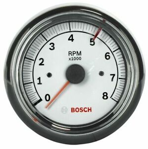 Bosch 3 3 8 Sun Super Tach Ii Tachometer White Chrome Bezel Fst7903 Authorized