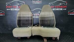 1991 Ford Ranger Front Driver Passenger Cloth Manual Seats Parchment Yp