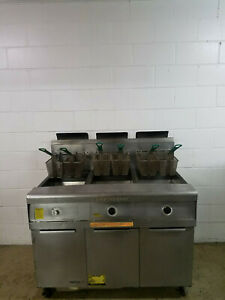 Frymaster Fpp345sd 3 Bank Fryer Filter Machine Natural Gas 115 Volts 1ph Tested