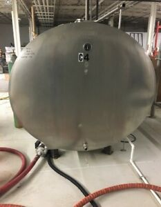 1250 Gallon Stainless Steel Insulated jacketed Glycol Cooling Bulk Tanks