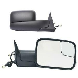 1998 2001 Dodge Ram 1500 1998 2002 2500 3500 Power Heated Towing Mirror Pair