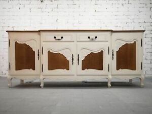 Vintage Restored New Look French Countryside Boho Chic Sideboard Credenza Buffet