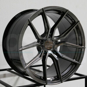 19x8 5 Xxr 559 5x120 40 Chromium Black Wheels Rims Set 4