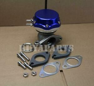 Universal 35 38mm Turbo Manifold Exhaust External Wastegate 14 Psi Spring Blue