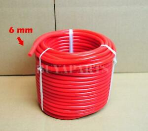 6mm 0 24 Red Silicone Turbo Intake Bov Air Fuel Vacuum Hose Line 10 Feet 10ft