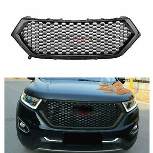 Fit For Ford Edge 2015 2018 Front Bumper Hood Grill Upper Grille Black Honeycomb