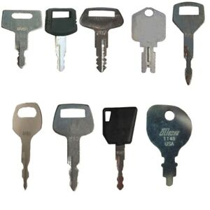 Set Of 18 Keys For Heavy Equipment Construction Ignitions