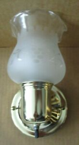 Vintage Wall Sconce Etched Glass Globe Del Val