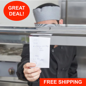 44 Stainless Steel Wall Mount Silver Restaurant Ticket Rod Check Slip Holder